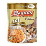 Alimento para Gatos Magnus Cat Gatos Castrados Frango ao Molho 85g