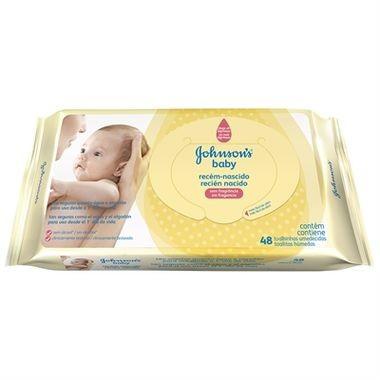 Lenço Umedecido Johnson's Baby Recém-nascido c/48
