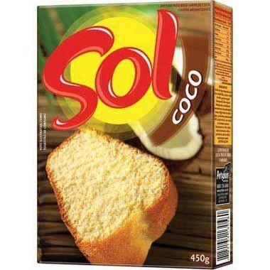 Mistura para Bolo Sol Sabor Coco 450g