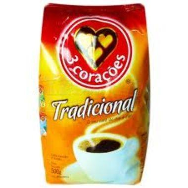 Café 3 corações Torrado e Moído Almofada 500g