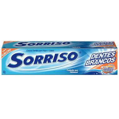Creme Dental Sorriso Dentes Brancos com Flúor 90g