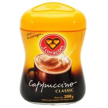Cappuccino 3 corações Classic Pote 200g