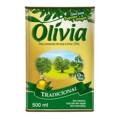 Óleo Olívia Composto de Soja e Oliva Tradicional 500ml