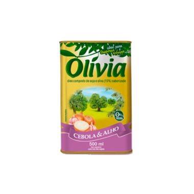 Óleo Olívia Composto de Soja e Oliva com Alho 500ml