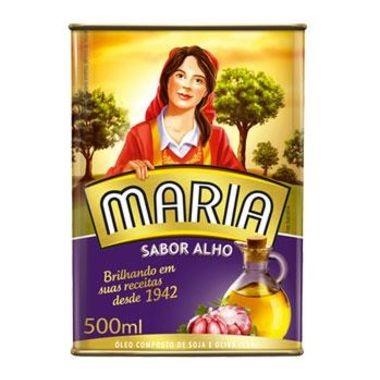 Óleo Maria Composto de Soja e Oliva - Alho 500ml