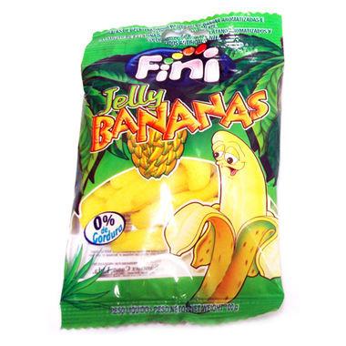 Balas de Gelatina Fini Banana com Açúcar 100g