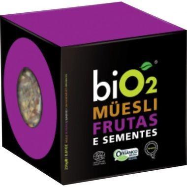 Mix de Cereais com Castanhas e Frutas biO2 Müesli - Frutas e Sementes 250g