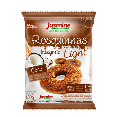 Rosquinha Integral Jasmine Light Coco 150g