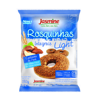 Rosquinha Integral Jasmine Light Castanha do Pará 150g