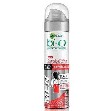 Desodorante Masculino Garnier Bí-O Invisible Black White Masculino Aerossol 150ml
