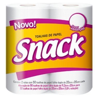 Toalhas de Papel Snack Folha Dupla 100 folhas