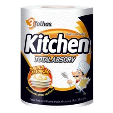 Toalhas de Papel Kitchen Folha Tripla Total Absorv 100 folhas