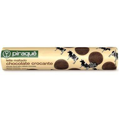 Biscoito Piraquê Leite Maltado Chocolate Crocante 200g