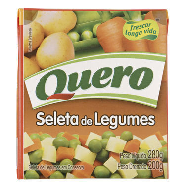 Seleta de Legumes Quero Caixa 200g
