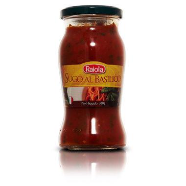 Molho de tomate Raiola Manjericão 350g