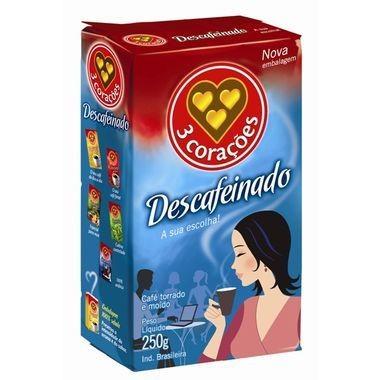 Café 3 corações Descafeinado 250g