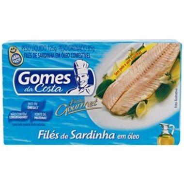 Filés de Sardinha Gomes da Costa em Óleo 125g