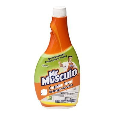 Limpador Desengordurante Mr Músculo Cozinha Limão Refil 500ml