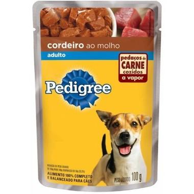 Ração para Cães Pedigree Adulto Cordeiro Sachê 100g