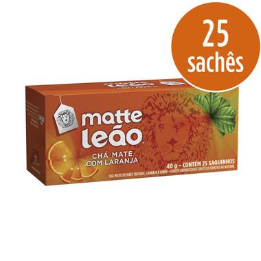 Chá Matte Leão Mate com Laranja c/25 Saquinhos 40g
