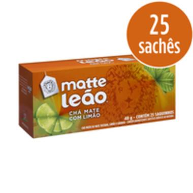 Chá Matte Leão Mate com Limão c/25 Saquinhos 40g