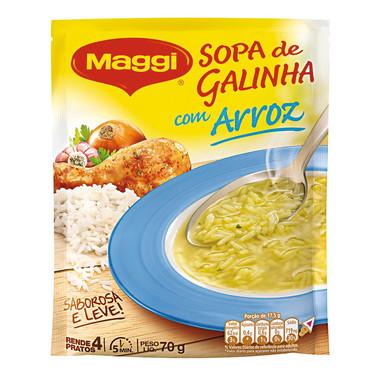 Sopa Maggi Galinha com Arroz 70g
