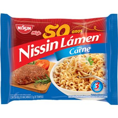 Macarrão Instantâneo Nissin Lámen Carne 85g