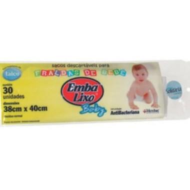 Saco para Lixo Emba Lixo Fralda de Bebê c/30