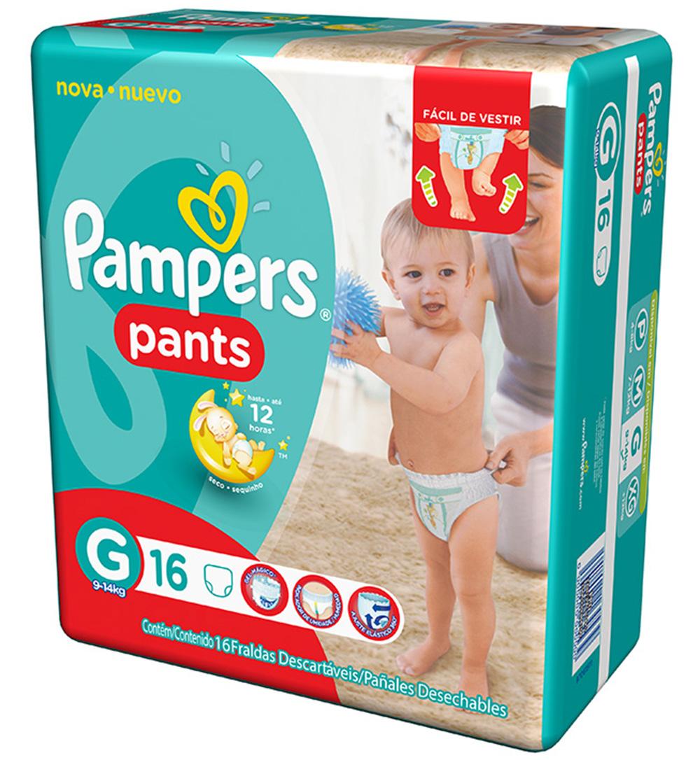 Fralda Descartável Pampers Pants G c/16