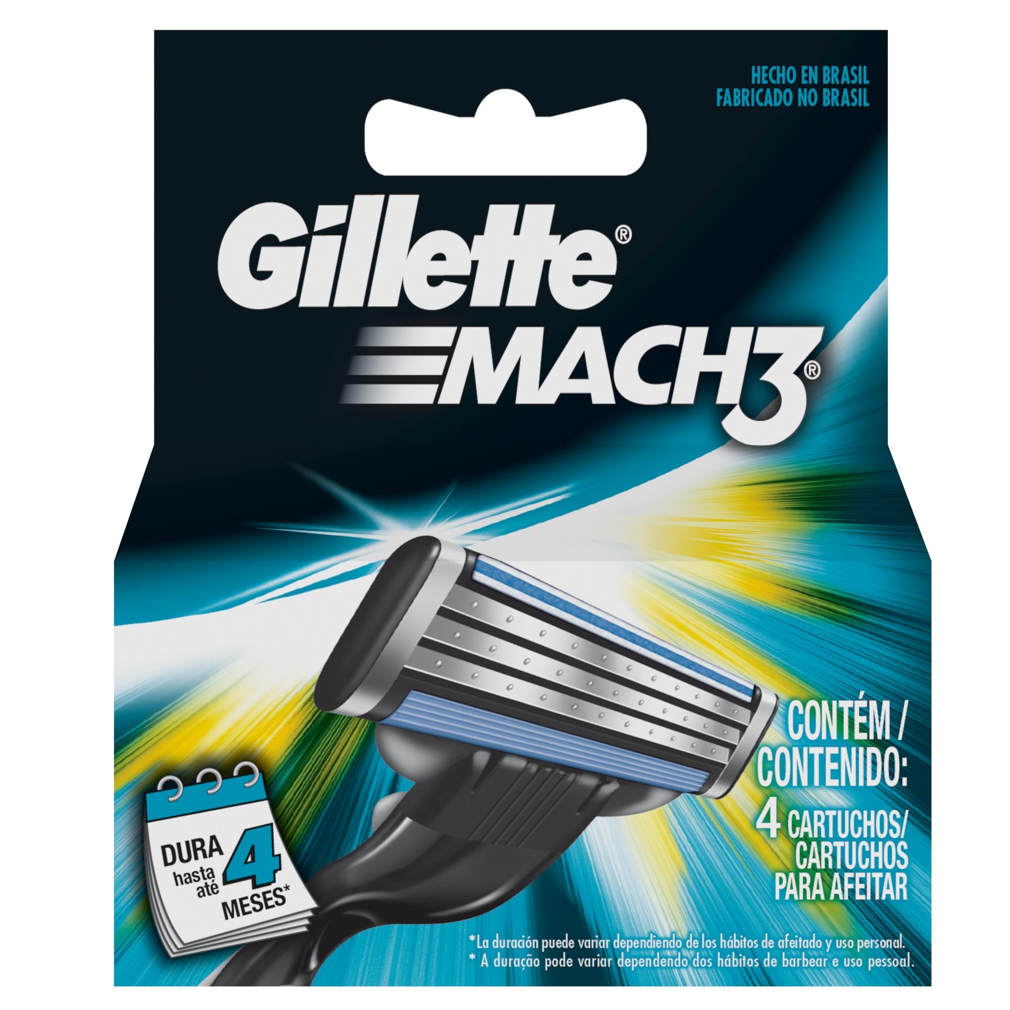 Carga para Aparelho de Barbear Gillette Mach3 c/4