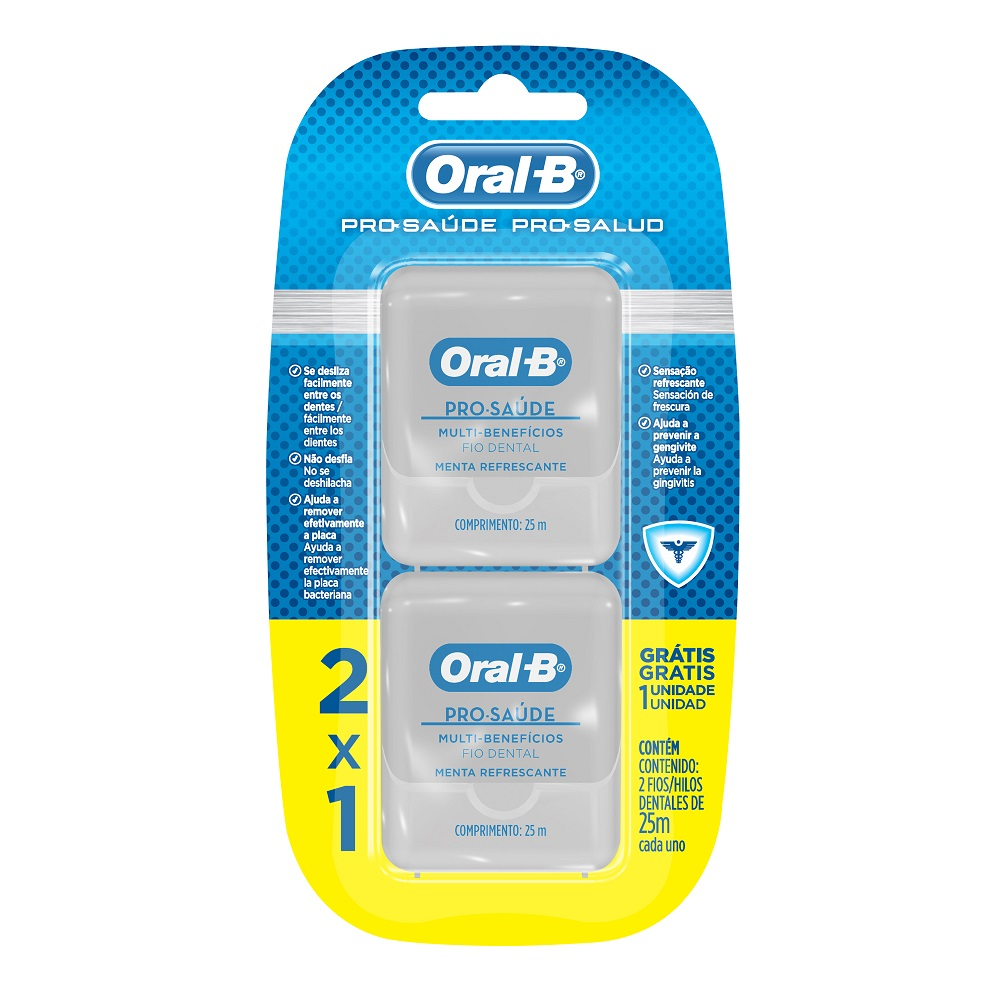 Pack Fio Dental Oral-B Pro-Saúde 25m c/2