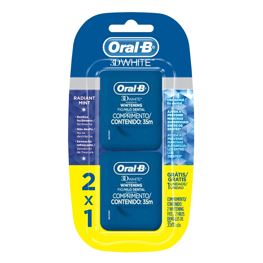 Pack Fio Dental Oral-B 3D White 35m c/2