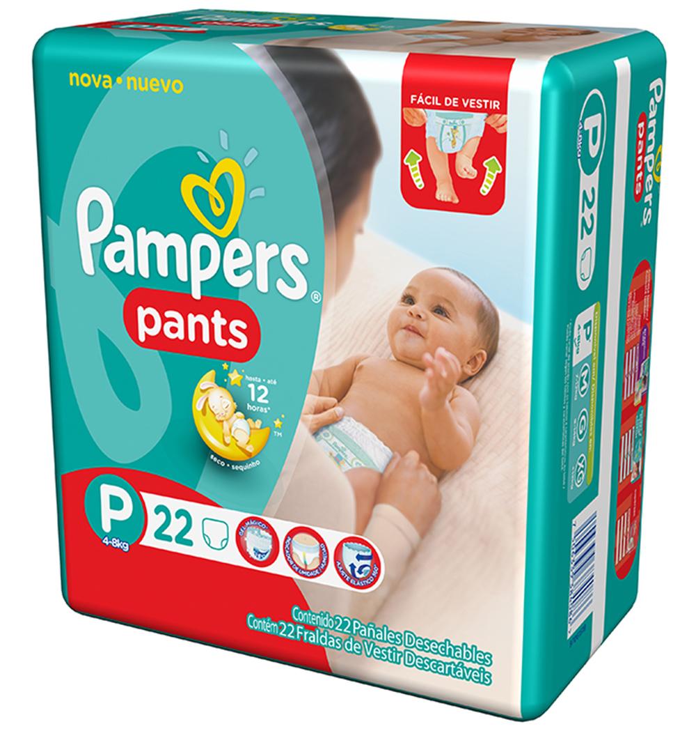Fralda Descartável Pampers Pants P c/22