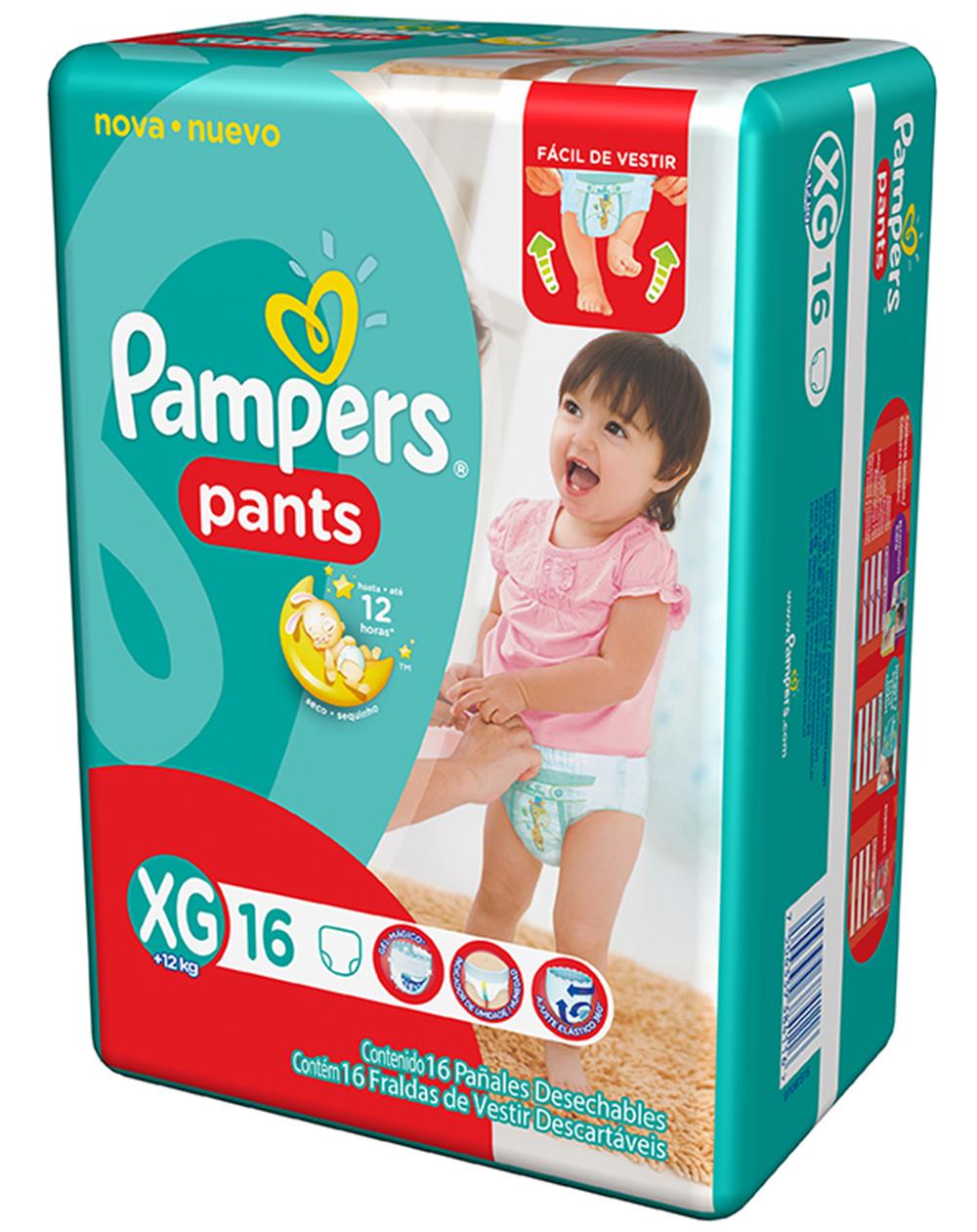 Fralda Descartável Pampers Pants XG c/16