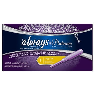 Absorvente Interno Always Platinum Regular c/8