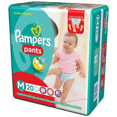 Fralda Descartável Pampers Pants M c/20