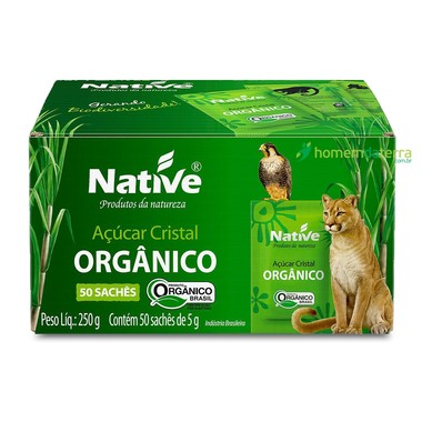 Açúcar Cristal Orgânico Native c/50 sachês 5g