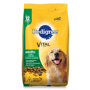 Ração para Cães Pedigree Vital Pro Adulto Carne e Vegetais 1Kg