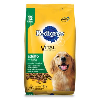 Ração para Cães Pedigree Vital Pro Adulto Carne e Vegetais 10,1Kg