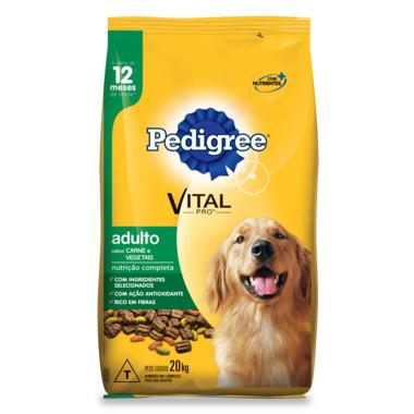 Ração para Cães Pedigree Vital Pro Adulto Carne e Vegetais 20Kg