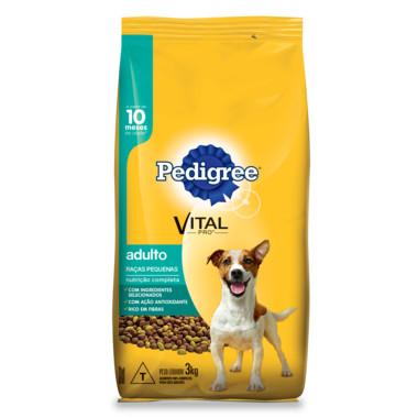 Ração para Cães Pedigree Vital Pro Adulto Raças Pequenas 3Kg