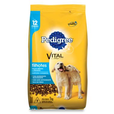 Ração para Cães Pedigree Vital Pro Filhotes Raças Médias e Grandes 1Kg