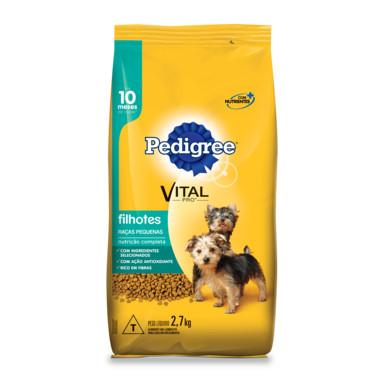 Ração para Cães Pedigree Vital Pro Filhotes Raças Pequenas 2,7Kg