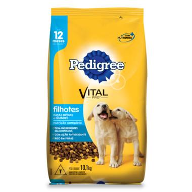 Ração para Cães Pedigree Vital Pro Filhotes Raças Médias e Grandes 10,1Kg