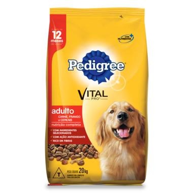 Ração para Cães Pedigree Vital Pro Adulto Carne, Frango e Cereais 20Kg