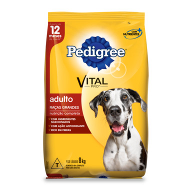 Ração para Cães Pedigree Vital Pro Adulto Raças Grandes 8Kg