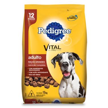 Ração para Cães Pedigree Vital Pro Adulto Raças Grandes 15Kg