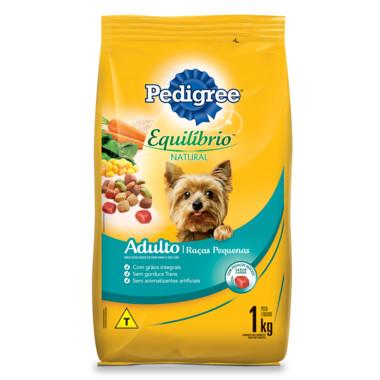 Ração para Cães Pedigree Equilíbrio Natural Adulto Raças Pequenas 1Kg
