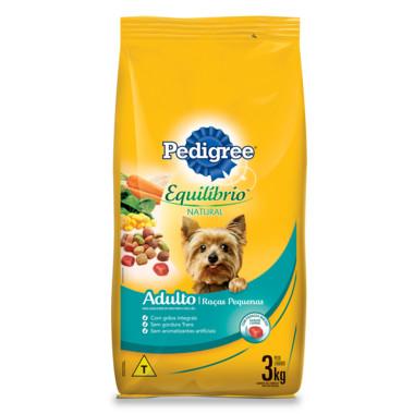 Ração para Cães Pedigree Equilíbrio Natural Adulto Raças Pequenas 3Kg