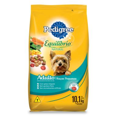 Ração para Cães Pedigree Equilíbrio Natural Adulto Raças Pequenas 10,1Kg
